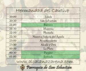 Horario Semana Santa Alcala de Guadaira - Cautivo