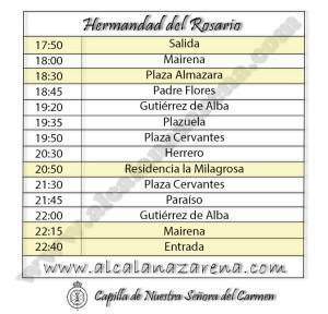 Horario Semana Santa Alcala de Guadaira - Rosario