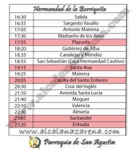 Horario Semana Santa Alcala de Guadaira - Borriquita