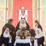 Las imágenes del Santo Entierro, de vuelta hoy a la capilla