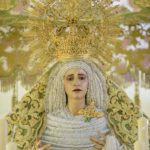 La Virgen de la Oliva, ya en su paso de palio