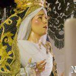 La Virgen de las Angustias ya preside su palio para el Martes Santo