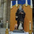 La Parroquia de Santiago bendice su nueva imagen de San Antonio Abad