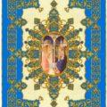 La plata, el oro y el color azul definen el palio renacentista de la Virgen de la Caridad